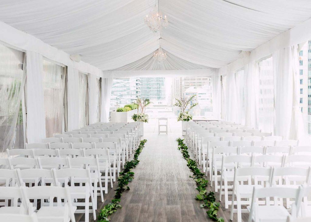 Toronto Wedding Venue - rooftop ceremony at Malaparte