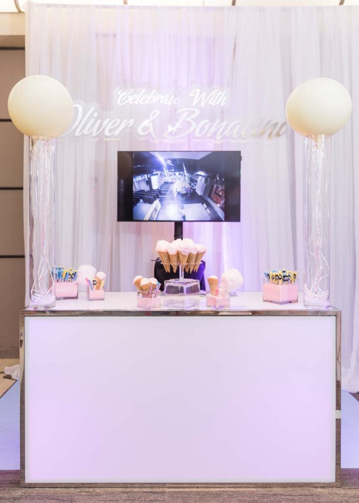 Oliver & Bonacini Catering in Calgary - booth at wedding show