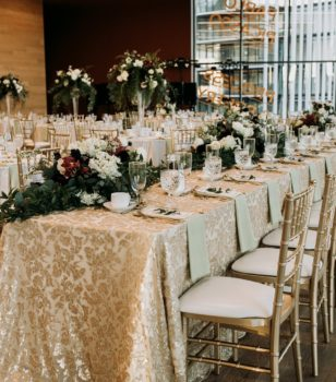 Head Table Wedding Setup at Remai Modern