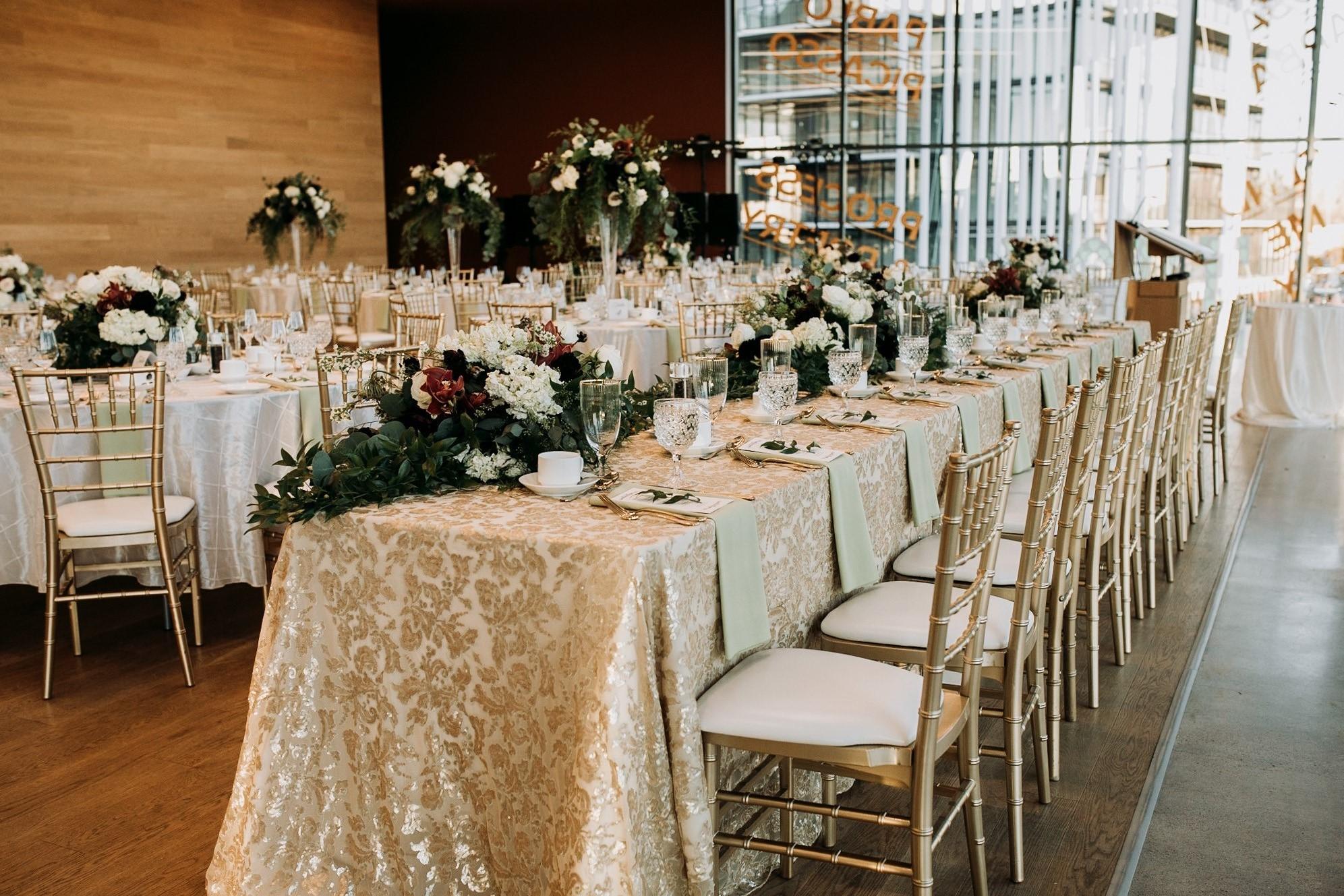 Head Table Wedding Setup at Remai Modern