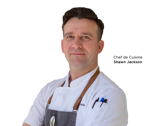 A headshot of Chef de Cuisine Shawn Jackson