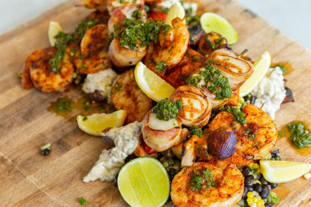 Father's Day Seafood BBQ Kit for 2