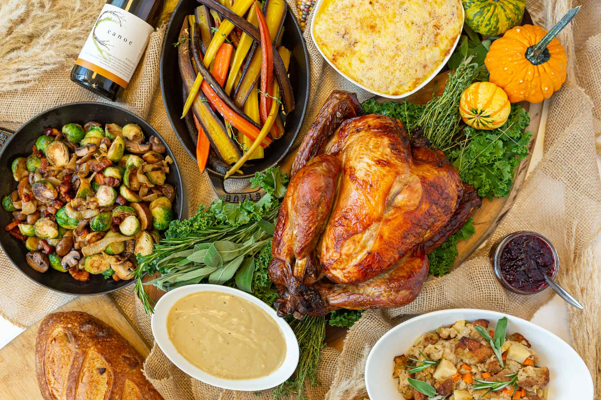 Thanksgiving Feast on a Table