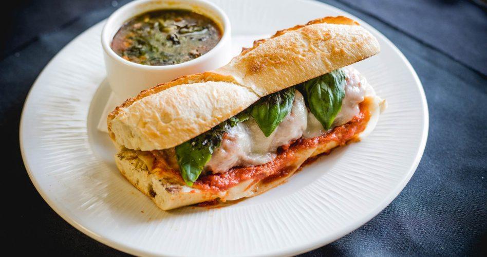 Meatball Hero Sandwich at Buffo Ristorante
