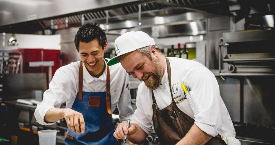 Chefs at Buffo, an Italian Restaurant in Calgary