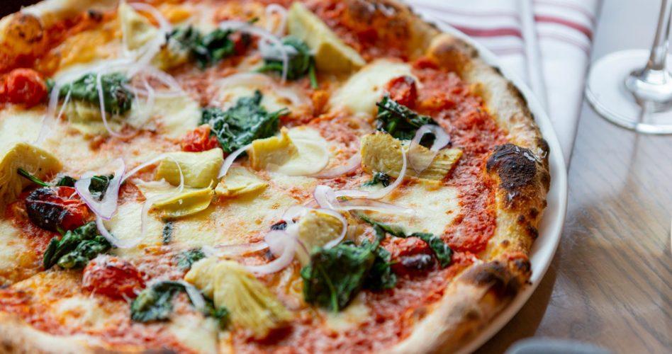spinach & artichoke pizza YYC