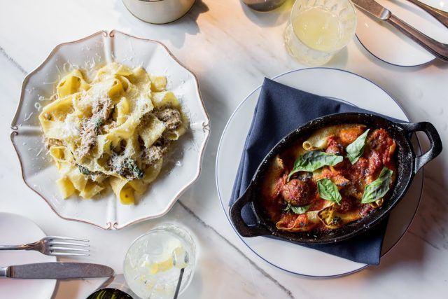 Pastas at Parcheggio to share