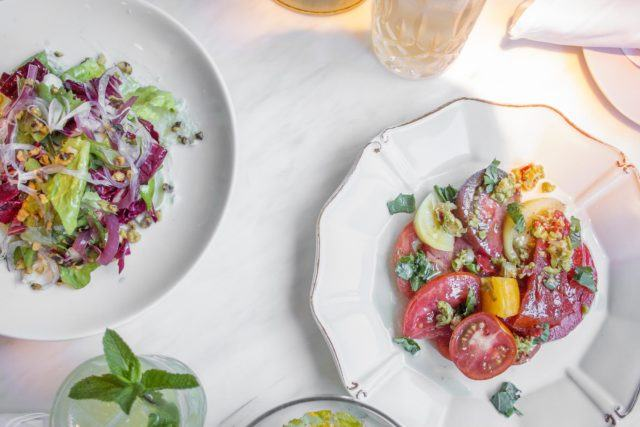salads and antipasti plates at Parcheggio