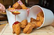 Bucket of fried chicken at Beauty Eats in North York