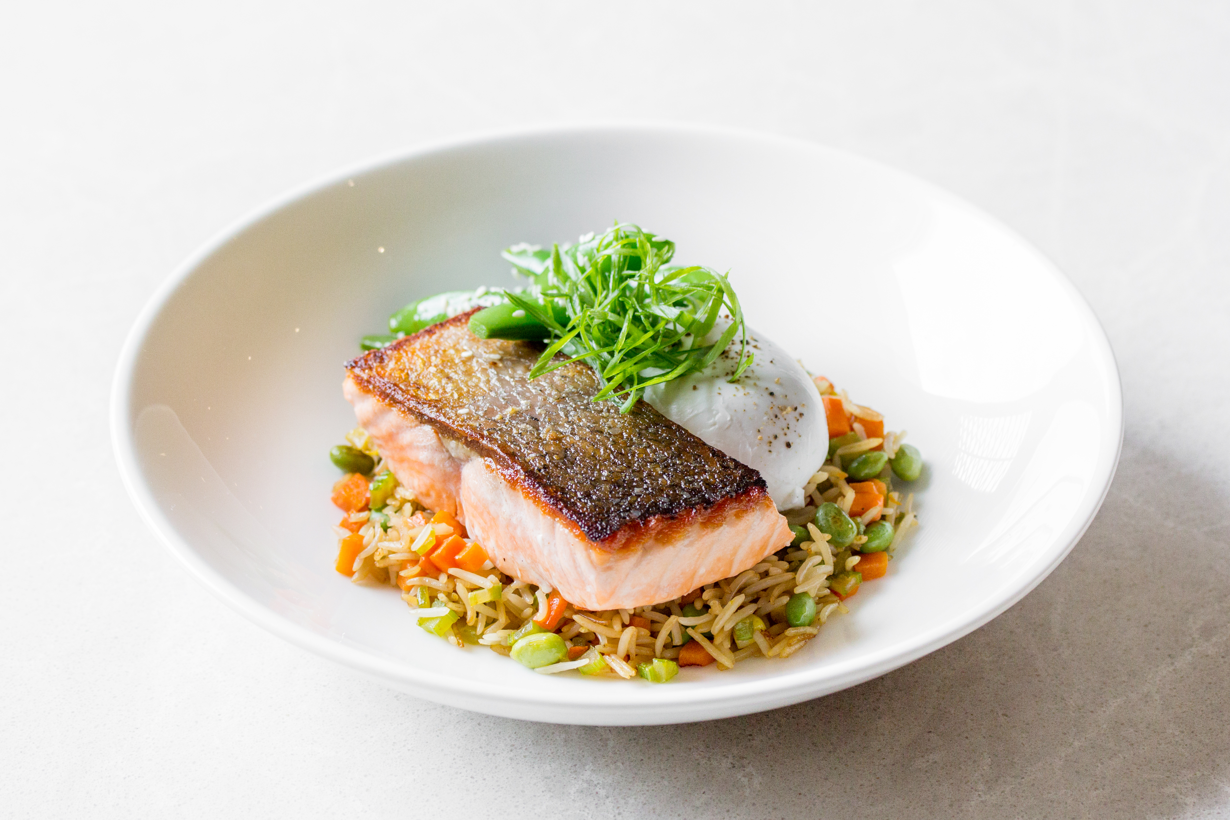 Salmon & Vegetable Fried Rice Bowl at Summerlicious