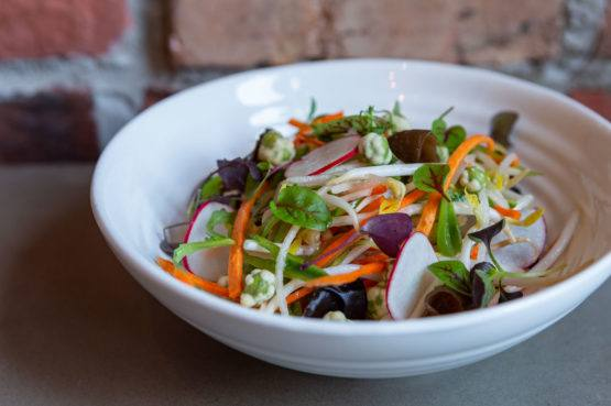 R&D Summerlicious Chop Suey Slaw with snap peas asian pears beansprouts carrots nuoc cham dressing