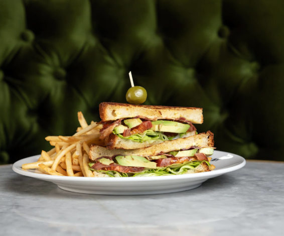 Bacon, avocado, lettuce and tomato sandwich at Maison Selby