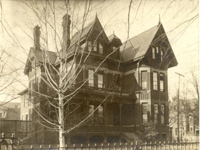 Vintage photo of the Gooderham Mansion at Bloor and Sherbourne