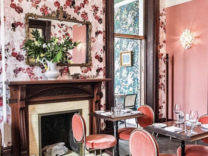 Maison Selby pink dining room
