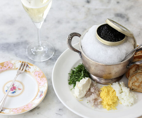 Maison Selby Caviar with Champagne