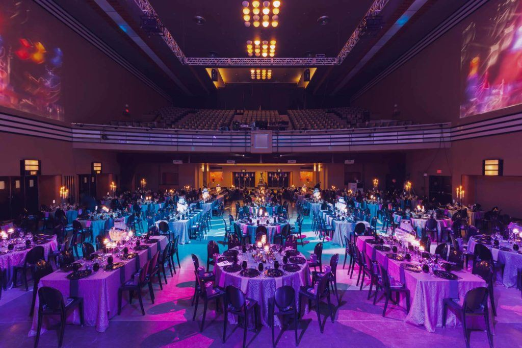 The Concert hall set up for a gala event at The Carlu