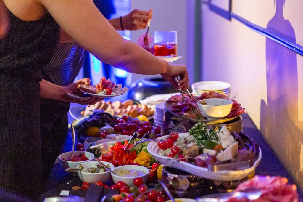 Charcuterie food station