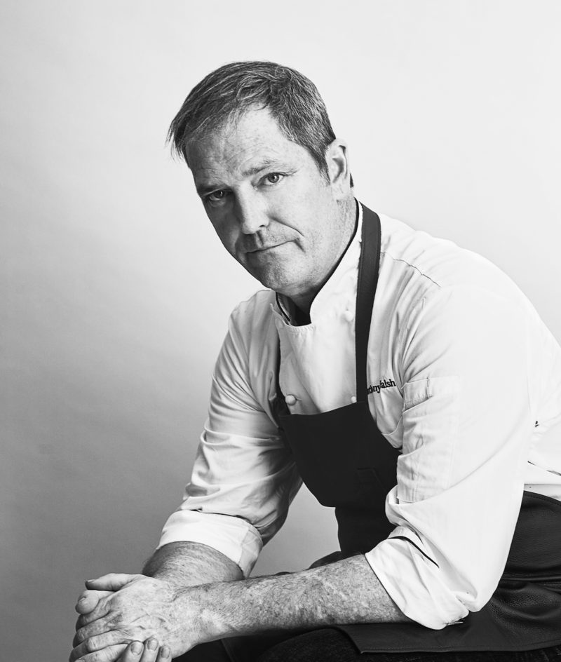 black and white portrait of chef anthony