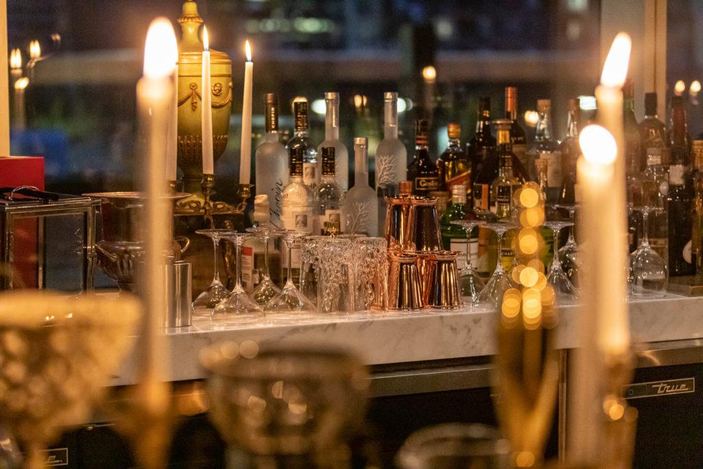 Candle bar at Alchemy in downtown Edmonton