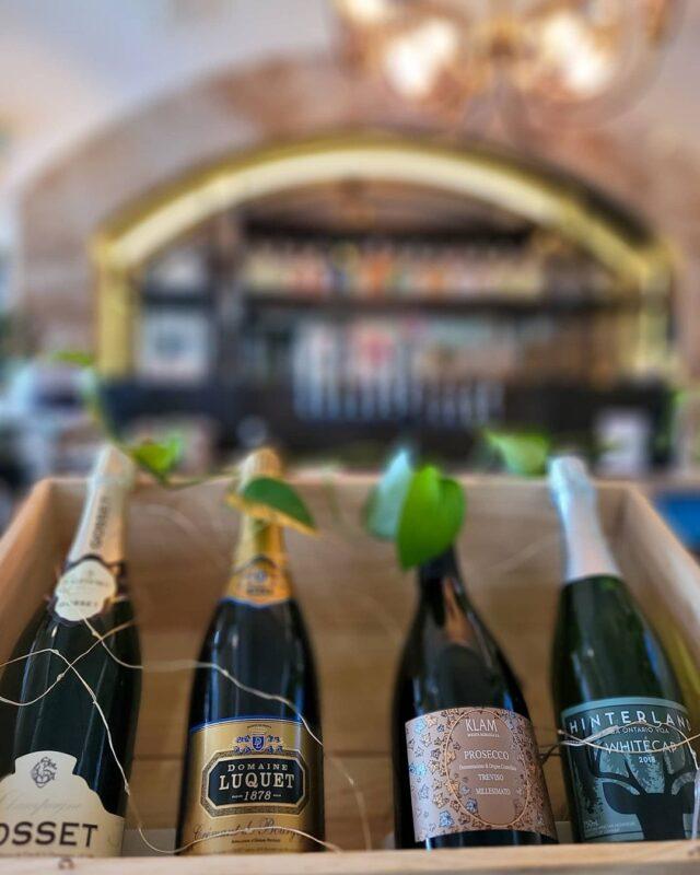 wine bottles on display at Babel Restaurant